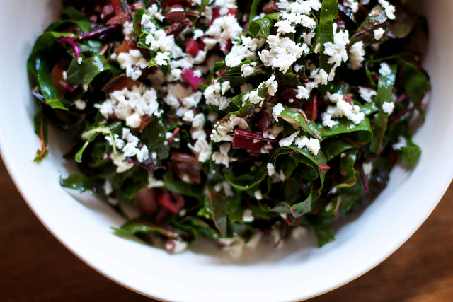 Chard with Olives, Lemon & Mozzarella » Pro Bono Baker